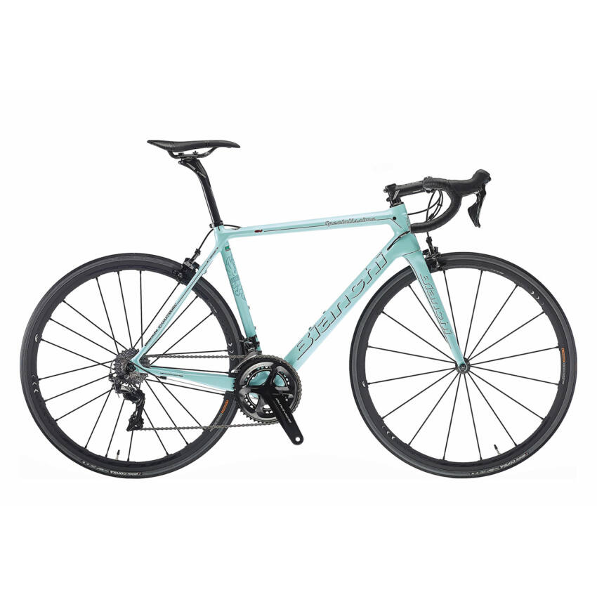 BIANCHI SPECIALISSIMA DURA ACE COMPACT 11sp 50/34 Racing Speed 55T Tubular kerékpár