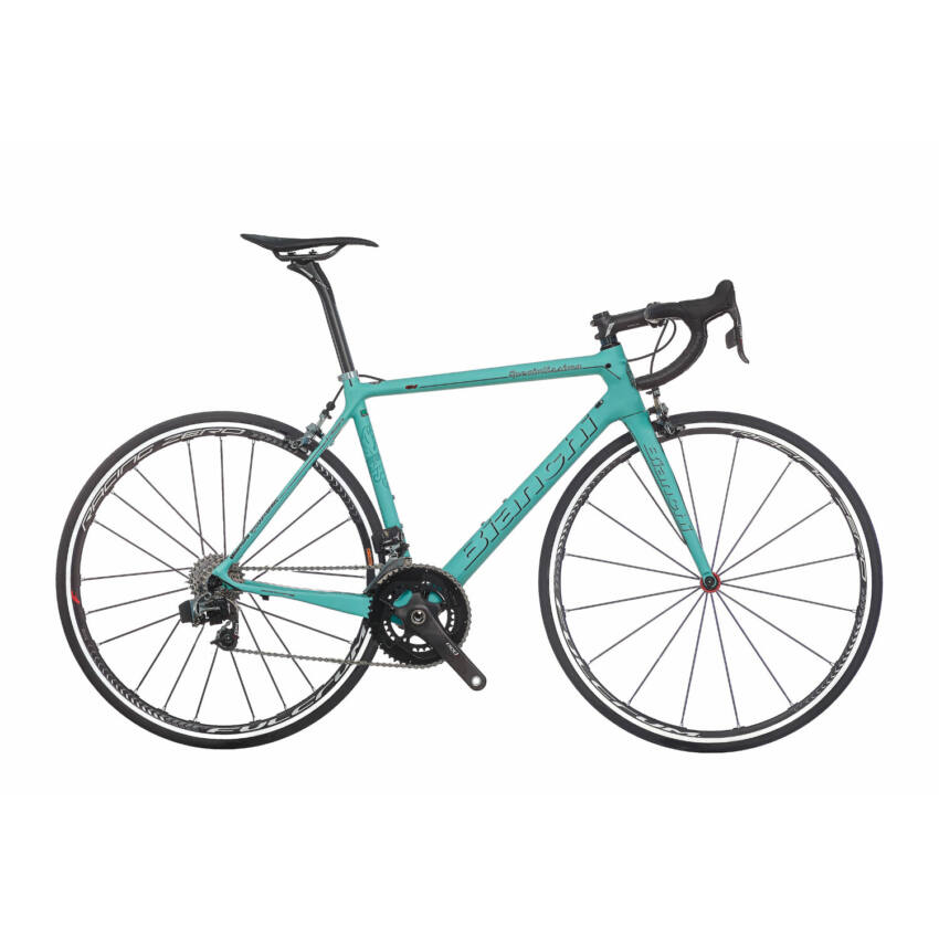 BIANCHI SPECIALISSIMA Sram Red eTap Compact 11sp 50/34 Racing Speed 55T Tubular kerékpár