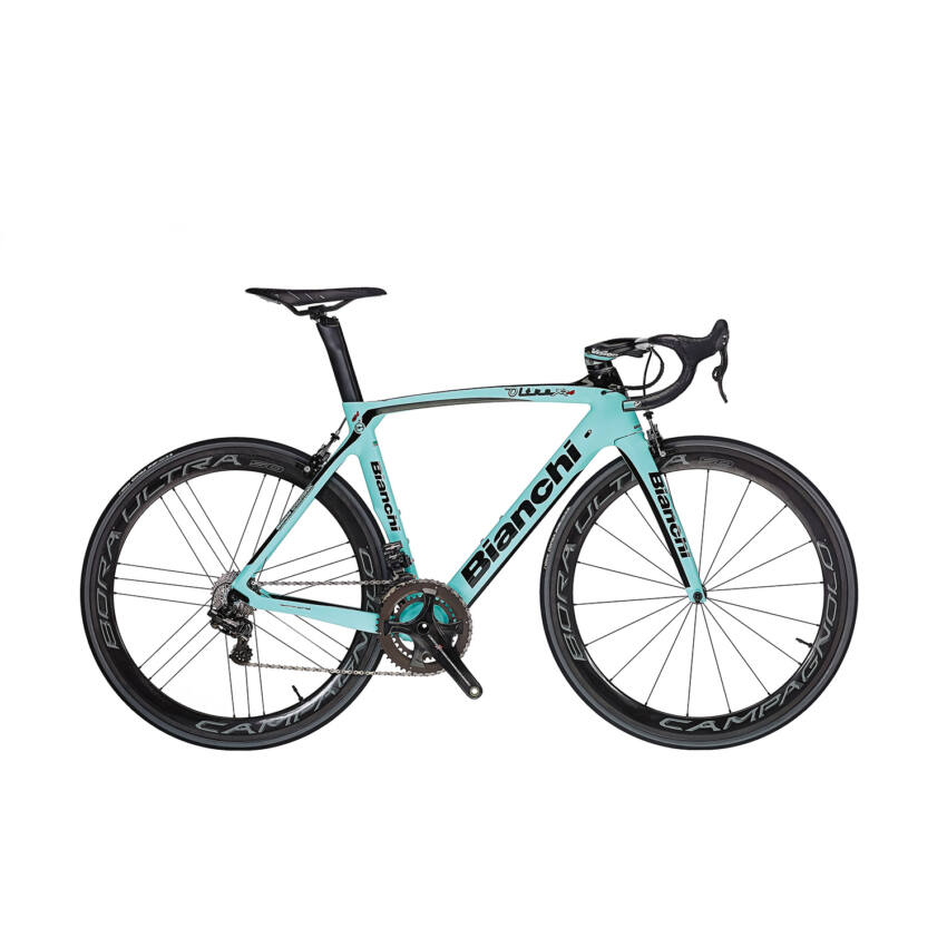 BIANCHI OLTRE XR4 Super Record Compact EPS 11sp 52/36 Rotor 3D Power Meter Racing Zero C17 kerékpár