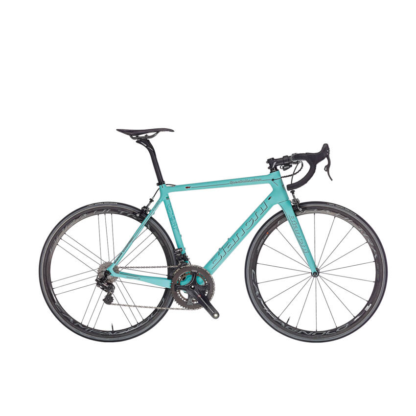 BIANCHI SPECIALISSIMA SUPER RECORD COMPACT EPS 11sp 52/36 Racing Zero Nite C17 kerékpár